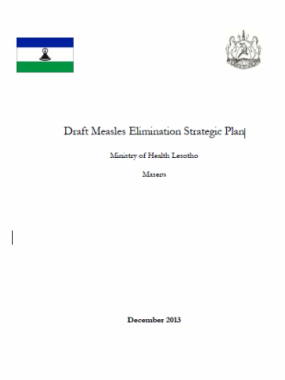 DRAFT-Lesotho Measles Elimination strategic plan WHO Lesotho