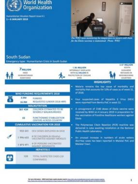 South Sudan Humanitarian Situation Report - 2019