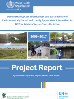 Demonstrating Cost Effectiveness and Sustainability of Environmentally Sound and Locally Appropriate Alternatives to DDT for Malaria Vector Control in Africa