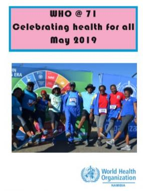 WHO Namibia captured its inaugural health walk in this photo book.