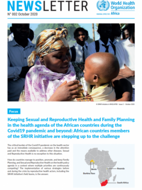 Sexual and Reproductive Health and Rights Newsletter - 2nd Issue - October 2020