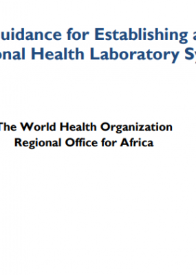 Guidance for Establishing a National Health Laboratory System