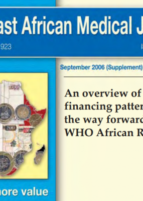An overview of health financing patterns and the way forward in the WHO African Region