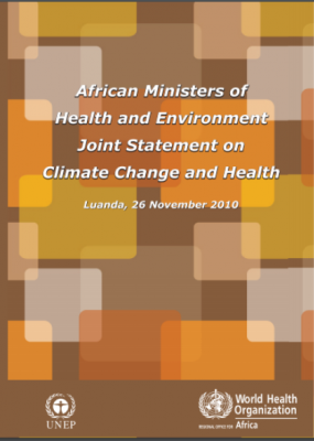 African Ministers of Health and Environment Joint Statement on Climate Change and Health