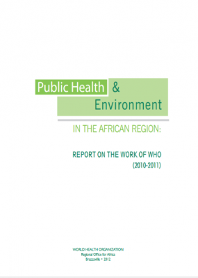 Public Health & Environment in the African Region: Report on the Work of WHO