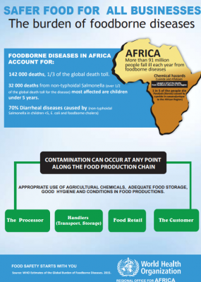 Safer food for all businesses: the burden of foodborne diseases