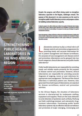Strengthening public health laboratories in the WHO African Region: A critical need for disease control