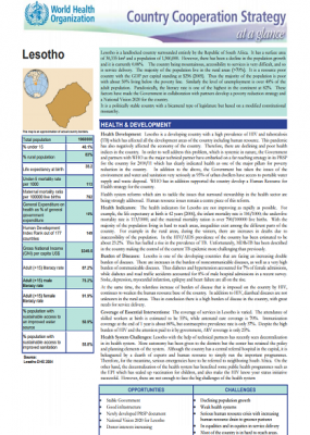 Country Cooperation Strategy at a glance: Lesotho