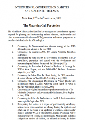 Mauritius Call For Action