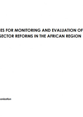 Guidelines for Monitoring and Evaluation of Health Sector Reforms in the African Region