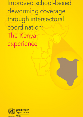 Improved school-based deworming coverage through intersectoral coordination: The Kenya experience