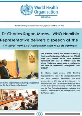 WHO Namibia July Newsletter: Vol 1 Issue 3