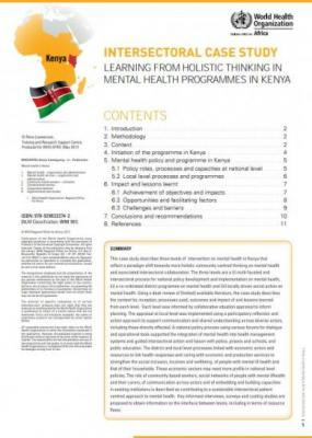 Learning from Holistic thinking in Mental Health Programmes in Kenya