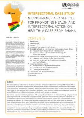 Microfinance as a vehicle for promoting health and intersectoral action on Health: a case from Ghana
