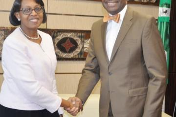 Dr Moeti, WHO Regional Director for Africa and Dr Adesina, President of the African Development Bank