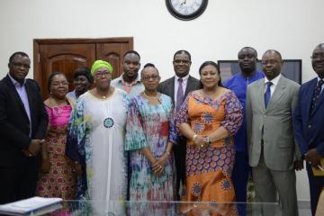 Courtesy call on Her Excellency the First Lady, Rebecca Akufo-Addo