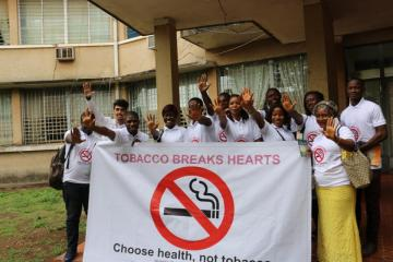 Pharmacy and medical students in Sierra Leone say No Tobacco