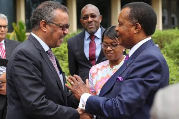 Dr Tedros and President Denis Sassou Nguesso