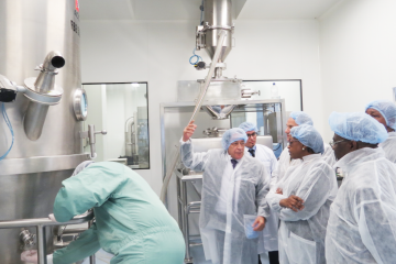 Dr Moeti visits a pharmaceutical plant in Algeirs, Algeria