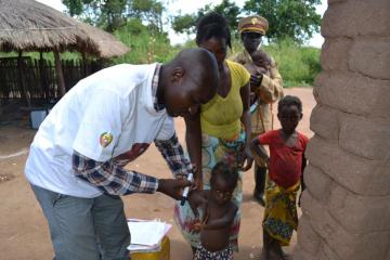 Polio vaccination in Mozambique