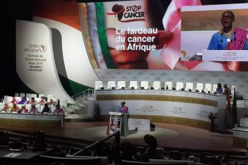 Dr Moeti at the high-level advocacy event on cancer in Africa held in Niamey