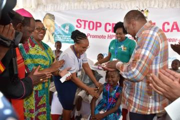 Kenya takes vital step against cervical cancer and introduces HPV vaccine into routine immunization