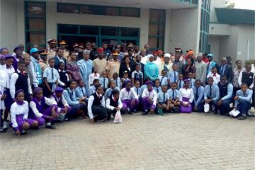 Group photograph during the commemoration World Day of Remembrance for Road Traffic Victims