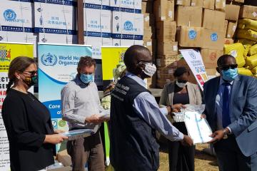 WHO Donates COVID-19 Supplies to MOH within the framework of the UN joint effort aimed at supporting government to scale up preparedness and response actions.