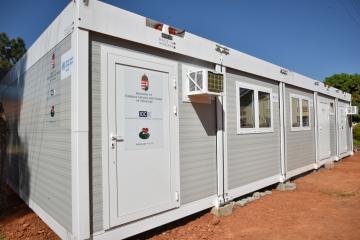Mobile medical equipment container established at Soroti Regional Referral Hospital