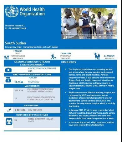 Situation Report Cover Page