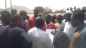 JAP members sensitizing traders in Bauchi Central Market, Bauchi State
