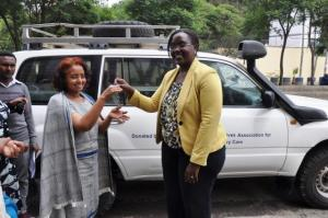 WHO donates a vehicle to Ethiopian Midwives Association.