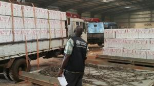 WHO receives 500 000 doses of Oral Cholera Vaccine for a planned campaign in South Sudan. WHO South Sudan/L. Luwaga.