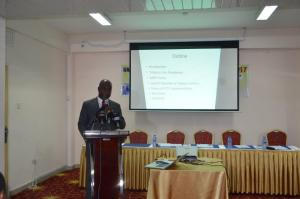 Dr Kyei-Faried giving updates on Tobacco Control efforts in Ghana