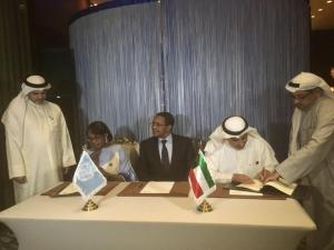 WHO Regional Director for Africa, Dr Matshidiso Moeti and The Director-General of the Kuwait Fund, H.E. Abdulwahab Al-Bader at the signing of the agreement - Photo: Kuwait Fund