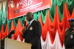 SGF delivering the speech of His Excellency, President Muhammadu Buahari