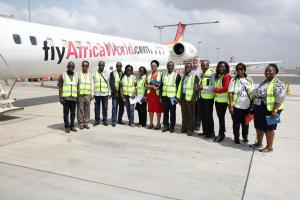 Participants at the Airport for hands on training