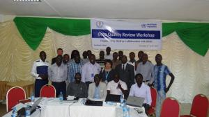 Group photo of participants at the Data quality review workshop. Photo:WHO