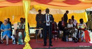 Vice President of Uganda H.E Edward Sekandi delivers remarks on behalf of the president