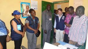 The Joint Mission, led by Dr Pedro Alonso visiting the health facilities in Aweil, the Greater Northern Bahr El Ghazal State