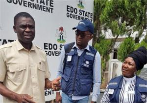 Edo State Deputy Governor with WHO State Coordinator