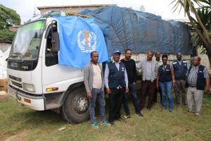 WHO Ethiopia delivers medical supplies to respond to IDP situation in Gedeo Zone, SNNPR, Ethiopia