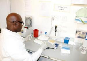 Trained technician at National Reference Laboratory Centre –Gaduwa, Abuja | NCDC/WHO