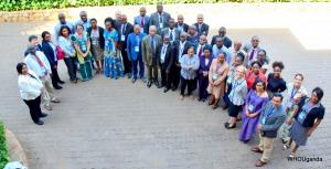 Ministry of Health and WHO officials in attendance at the workshop