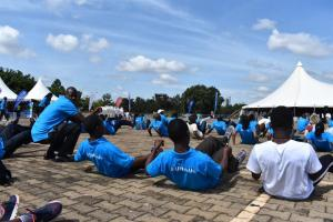 UN staff engage in Cardiovascular work out exercises at the UN day