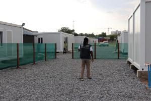 The Ebola Treatment Unit constructed by WHO