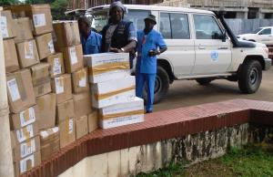 Stockpile of assorted Medical Books handed over to the MOH by WHO