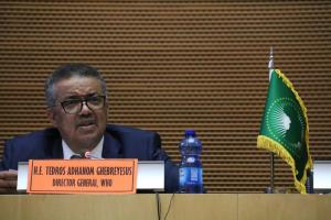 Dr. Tedros Adhanom, WHO Director General during his opening speech