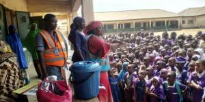 Lassa fever sensitization campaign in a school in Taraba state, Northeast Nigeria.