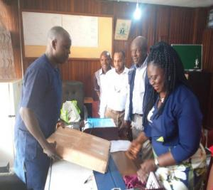 WHO presenting thermometers for Lassa fever outbreak response to Enugu state